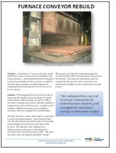 Furnace Converyor Rebuild